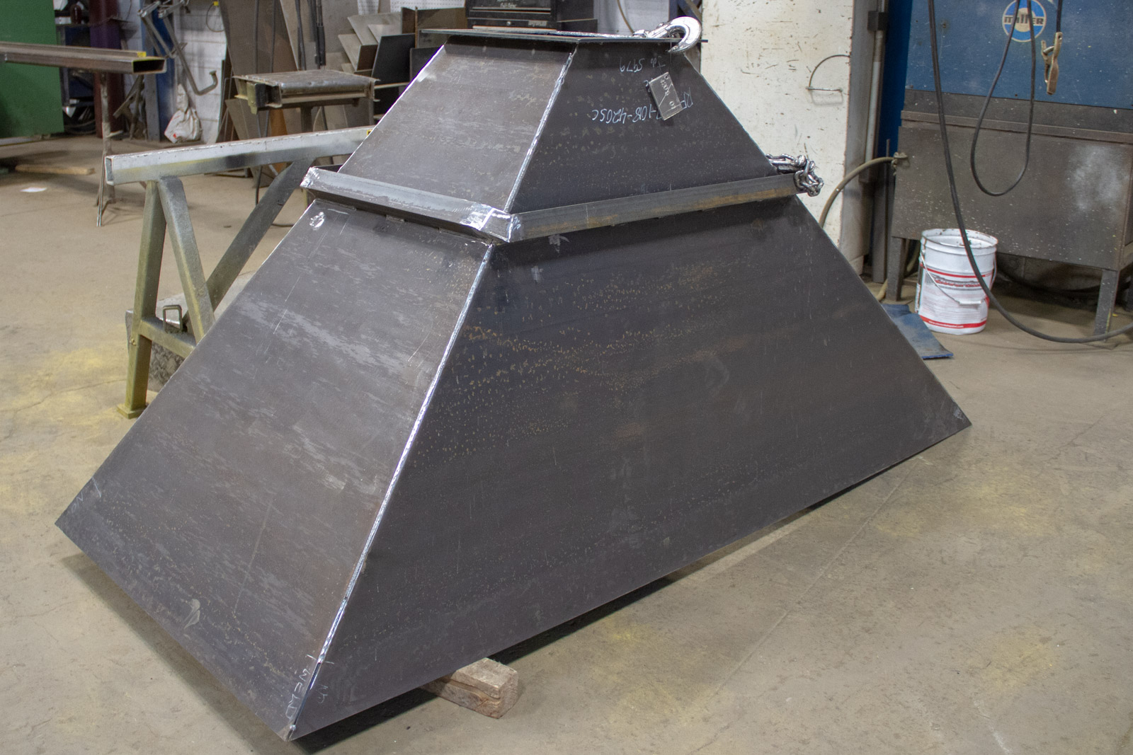 Fabricated Hopper for grain terminal