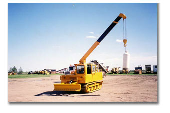 Truck Water Hauler with blade and picker fabricated in Saskatchewan